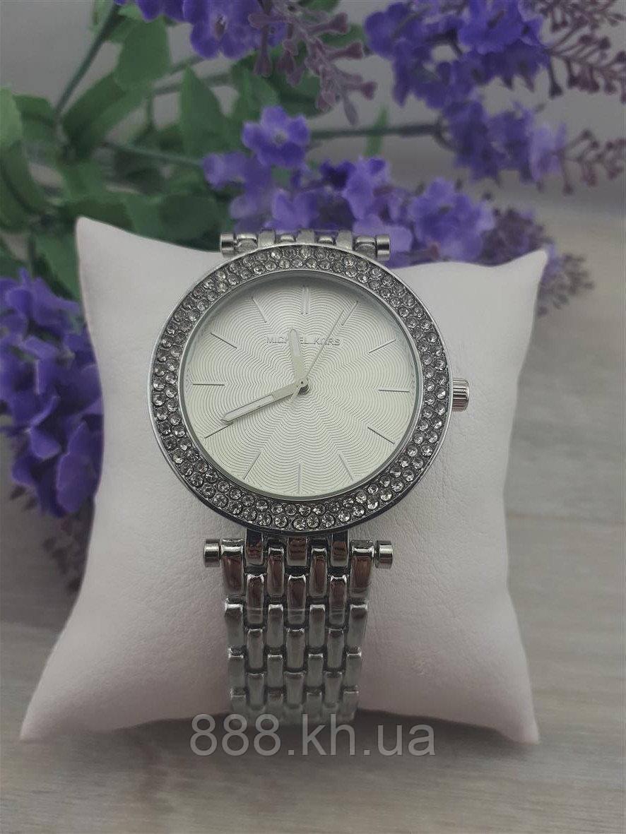 Женские наручные часы Michael Kors копия класса люкс, жіночі годинники Michael Kors (серебро/белый)