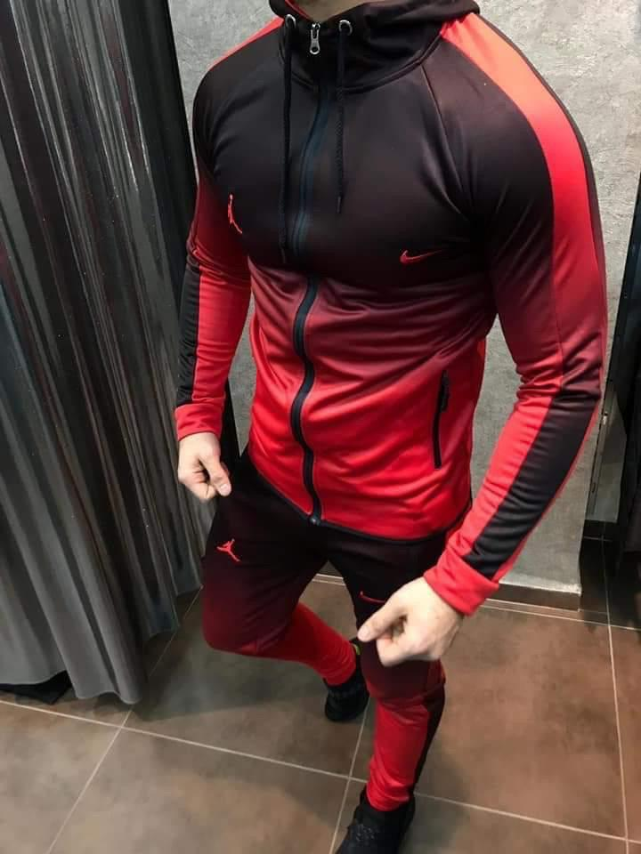Мужской спортивный костюм Nike (красно-черный) - Турция