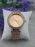 Женские наручные часы Michael Kors копия класса люкс, жіночі годинники Michael Kors (серебро+золото/розовый)