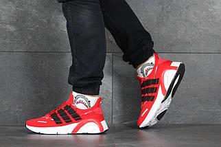 Червоні чоловічі кросівки літні щільна сітка 8346, фото 3