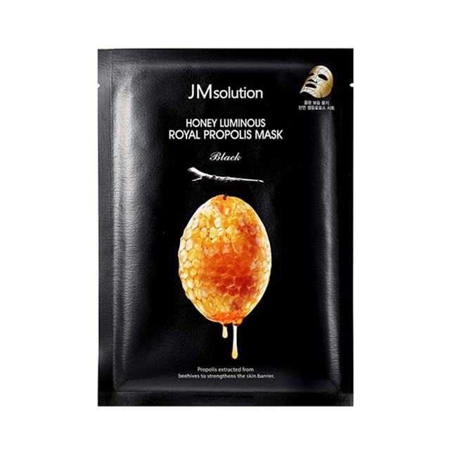 Антивозрастная тканевая маска премиум класса с экстрактом прополиса JMsolution Honey Luminous Royal Propolis