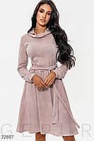 Трикотажное расклешенное платье Разные цвета