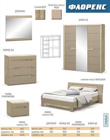 Спальня Мебель-Сервис «Флоренс», фото 2