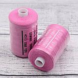 Нитки швейные 40/2, 1000 ярдов, цвет тёмно-розовый (№141), фото 2