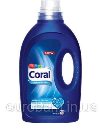 Coral Optimal Color гель для прання кольорової білизни 1.37 л 25 прань (Нідерланди), фото 2