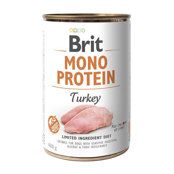 Brit Mono Protein Turkey консервы для собак с мясом индейки, 0.4кг*6шт