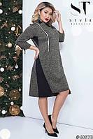 Трикотажное платье женское Размер 48 50 52 54 56 58 В наличии 2 цвета, фото 1