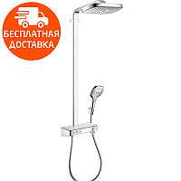 Душевая система с термостатом Hansgrohe Raindance Select E Air 3jet 300 Showerpipe 27127000 хром