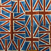 """Салфетка декупажная 21x21 см 8 """"Британский Флаг"""" Серветка для декупажу"""