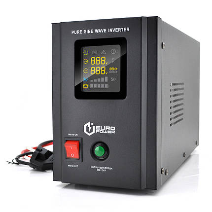 ИБП с правильной синусоидой Europower PSW-EPB800TW12 (480 Вт) 5/10А, под внешнюю АКБ 12В , Q2, фото 2