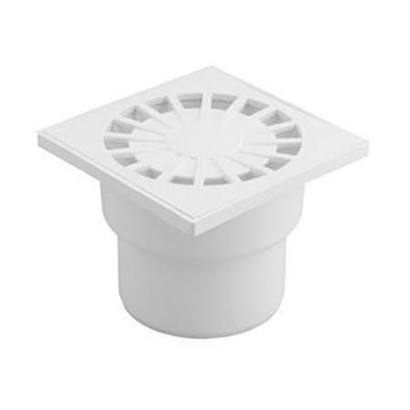 Трап для внутренней канализации Инсталпласт 50 10х10 прямой (белый)