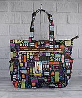 Сумка шоппер большая LeSportsac 9802-08 лого текстильная