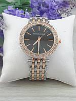 Женские наручные часы Michael Kors копия класса люкс, жіночі годинники Michael Kors (серебро+золото/черный)