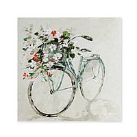 "Репродукция на холсте ""Велосипед"" 80х80 см"