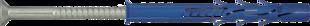 R-FF1-L Рамный фасадный дюбель с шурупом с потайной головкой из оцинк. стали