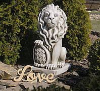 Садовая фигура скульптура для сада Лев 35.5×28.5×62.5cm SS12149-58 статуя