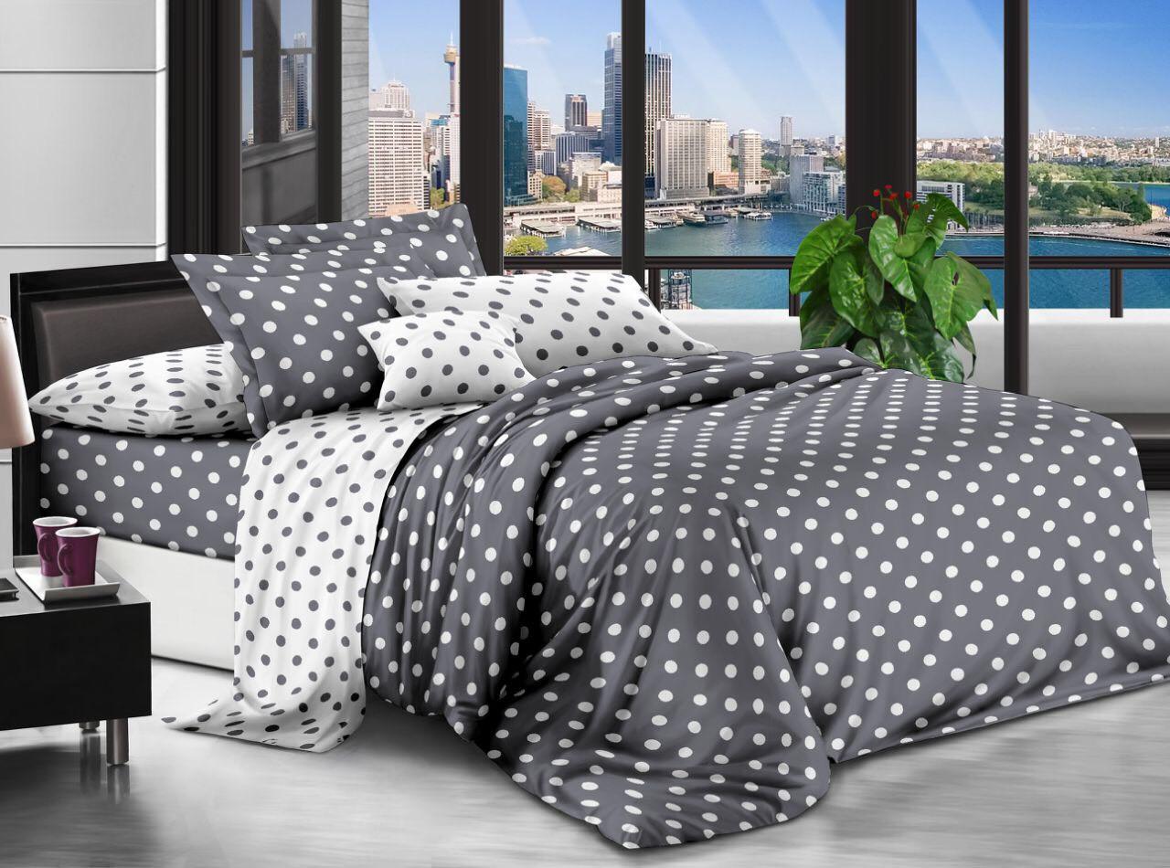 Двуспальный комплект постельного белья евро 200*220 хлопок  (12721) TM KRISPOL Украина