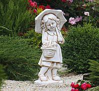 Садовая фигура скульптура для сада Девочка с зонтом 66х30х24 см ССК12146 статуя