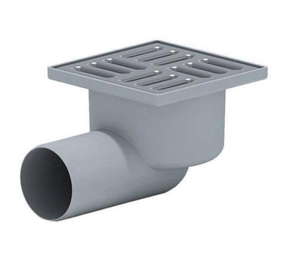 Трап для внутренней канализации Инсталпласт 50 15х15 боковой (серый)