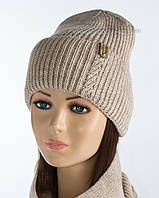 Зимняя женская шапочка Зара лен