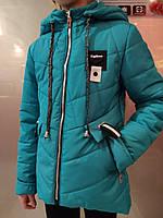 Прошытая куртка для девочек с брошкой стрикоза, фото 1