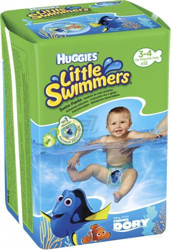 Подгузники-трусики «Huggies Little Swimmers» 3,4 (7-15 кг)