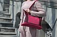 """Сумка жіноча шкіряна універсальна на блискавці """"Lady Boss"""". Колір бордовий, фото 4"""