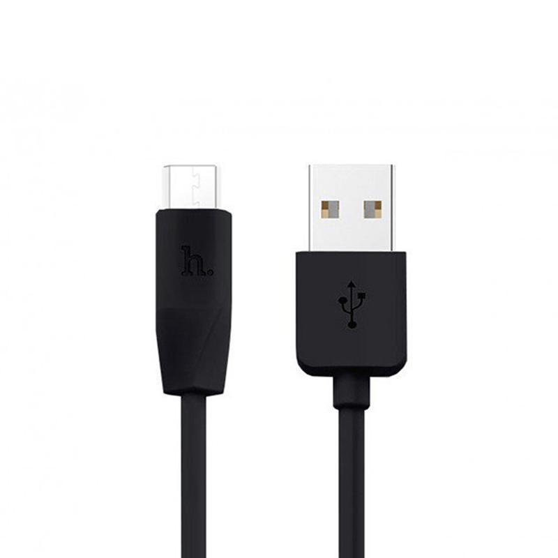 USB Cable Hoco X1 Rapid MicroUSB Black 1m