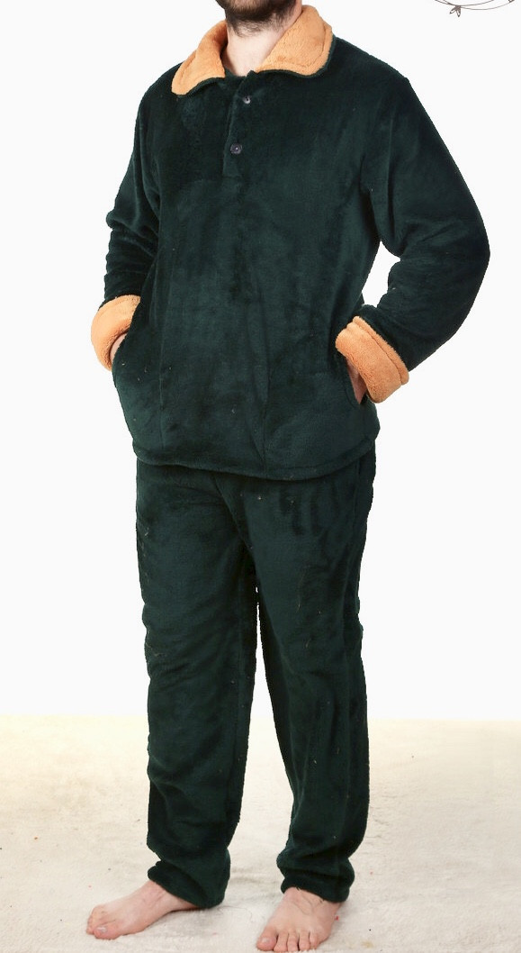 Мужская Пижама классическая махра софт