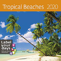 Календарь настенный HELMA 2020 30x30 см Tropical Beaches (LP10-20)