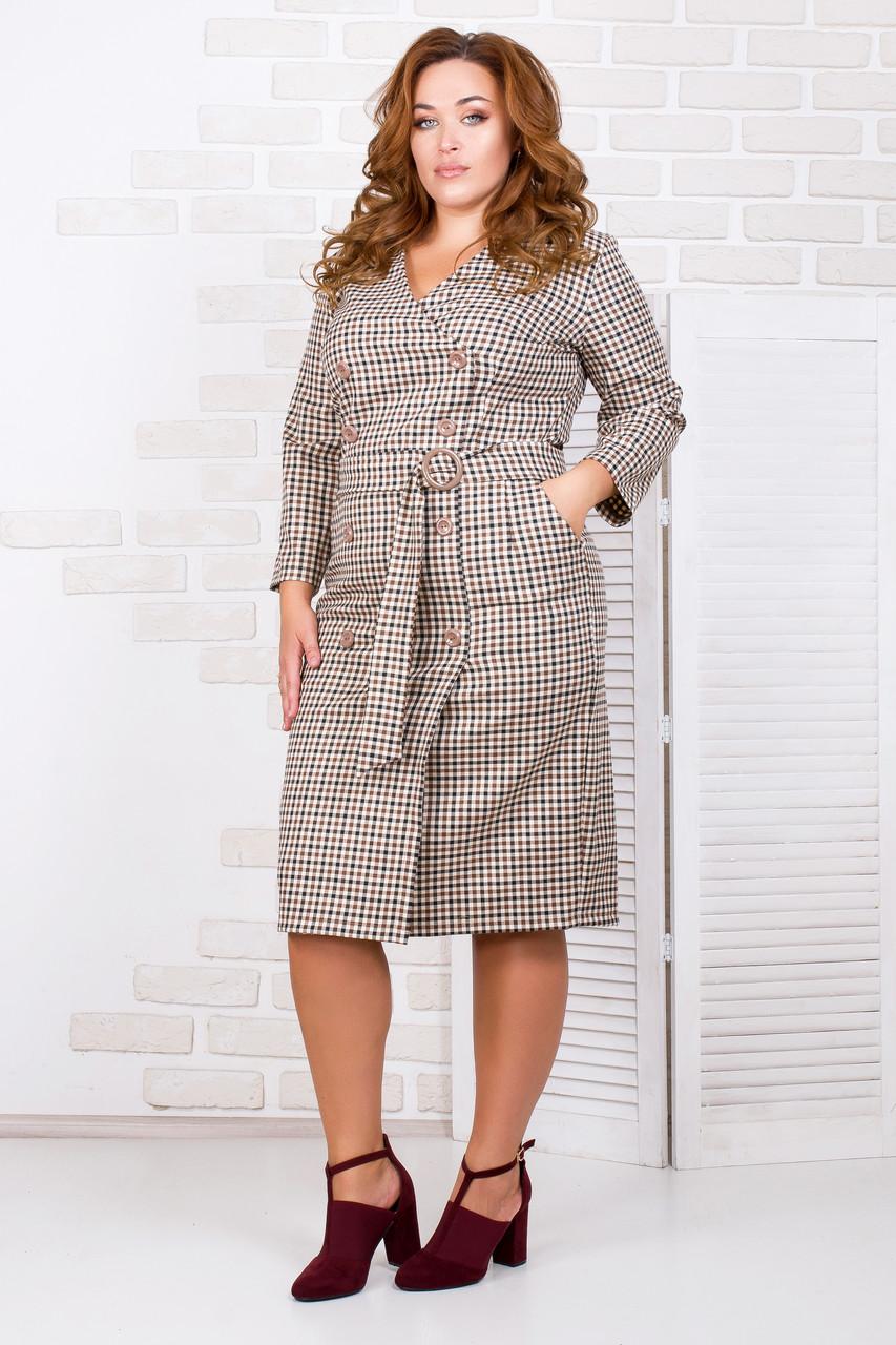 Женское платье с пуговицами 50-56 р ( разные цвета )