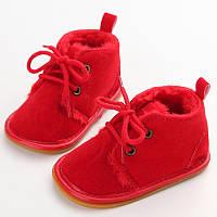 Демисезонные ботинки пинетки на полноценной подошве., фото 1