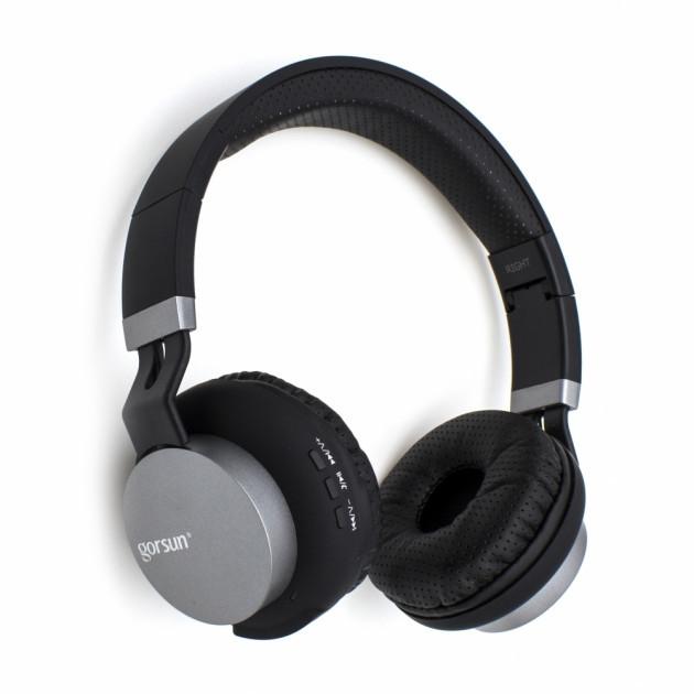 Наушники беспроводные блютуз Bluetooth Gorsun GS-E89 Black
