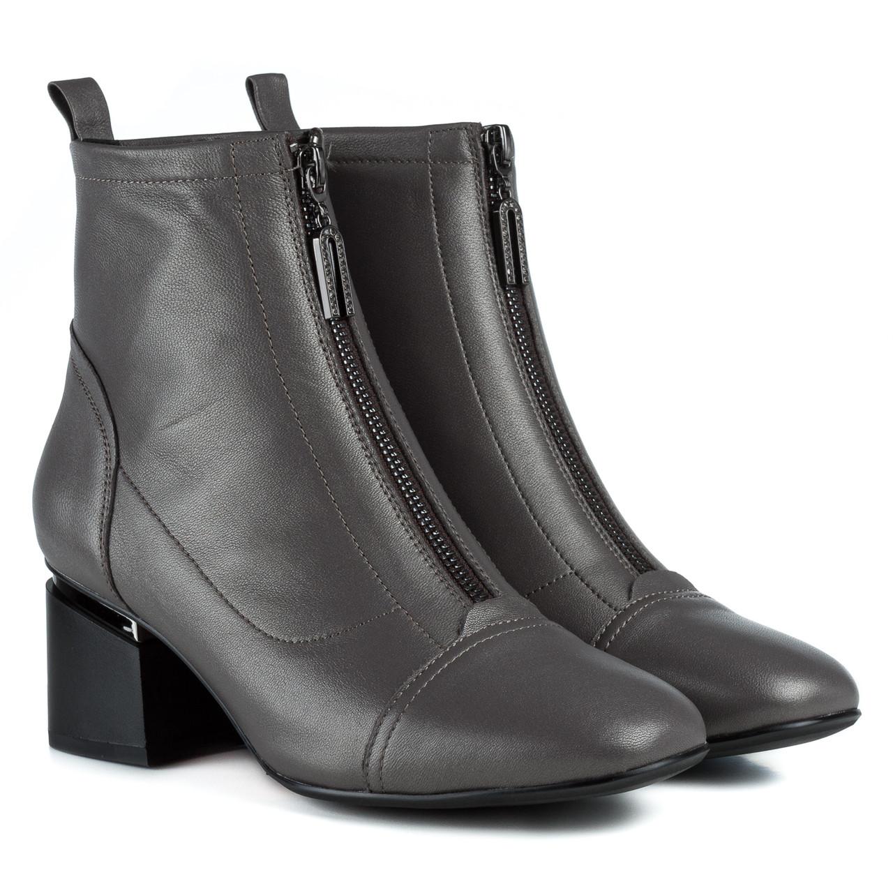 Ботильоны женские BERKONTY (серого цвета, стильные, на удобном каблуке)