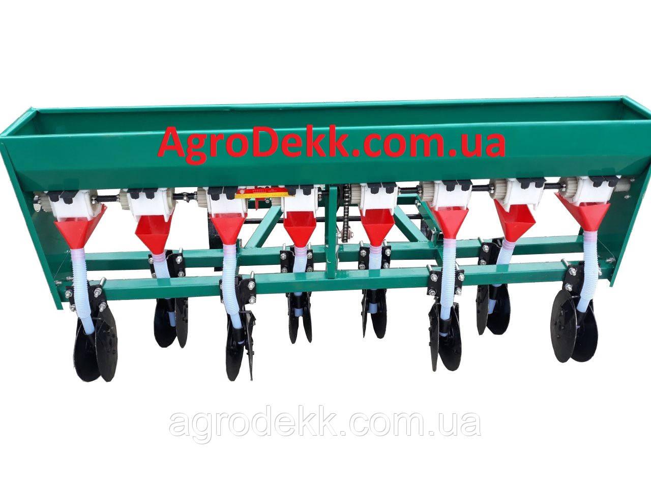 Сеялка зерновая дисковая, овощная к мотоблоку или минитрактору 8-восьмирядная