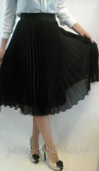Шифоновые длины юбки