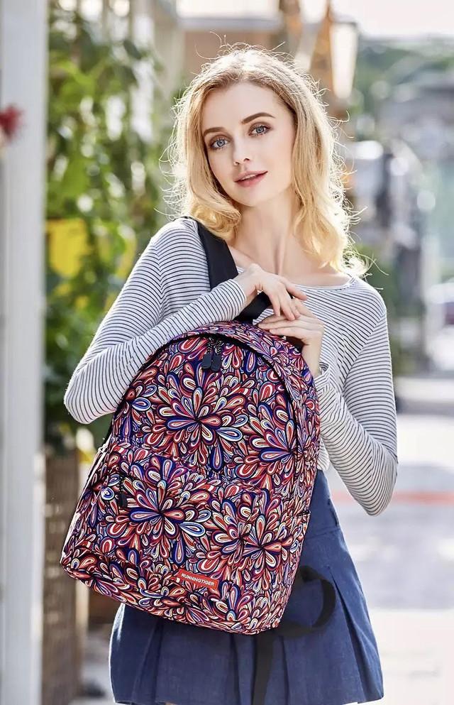 Школьный рюкзак подростковый с цветами