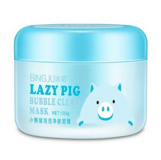 Киснева маска для обличчя BINGJU Lazy Pig Bubble Clean Mask (100г)