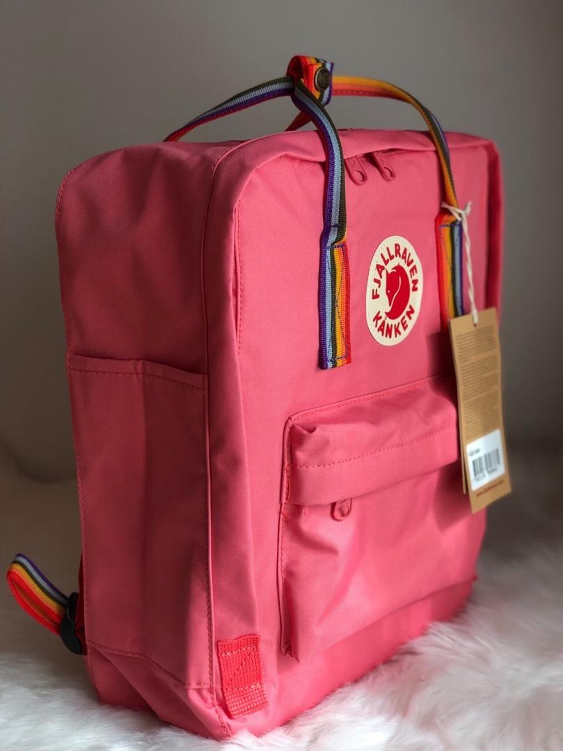 Рюкзак Fjallraven Kanken Classic (pink), рюкзак Канкен, рожевий портфель канкен