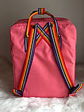 Рюкзак Fjallraven Kanken Classic (pink), рюкзак Канкен, рожевий портфель канкен, фото 4