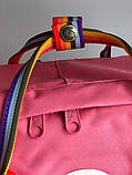 Рюкзак Fjallraven Kanken Classic (pink), рюкзак Канкен, рожевий портфель канкен, фото 5
