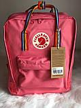 Рюкзак Fjallraven Kanken Classic (pink), рюкзак Канкен, рожевий портфель канкен, фото 2