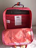 Рюкзак Fjallraven Kanken Classic (pink), рюкзак Канкен, рожевий портфель канкен, фото 3