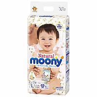 Подгузники Moony Natural L 9-14 кг, 38 шт (Внутренний рынок Японии) 4903111221271
