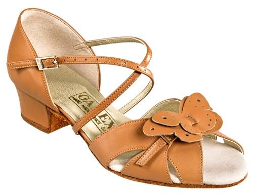 Танцевальная обувь девочек блок каблук - Babochka blok