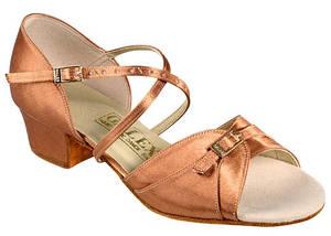 Танцевальная обувь девочек блок каблук - Polina blok