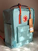Рюкзак Fjallraven Kanken Classic (blue), рюкзак Канкен, портфель канкен