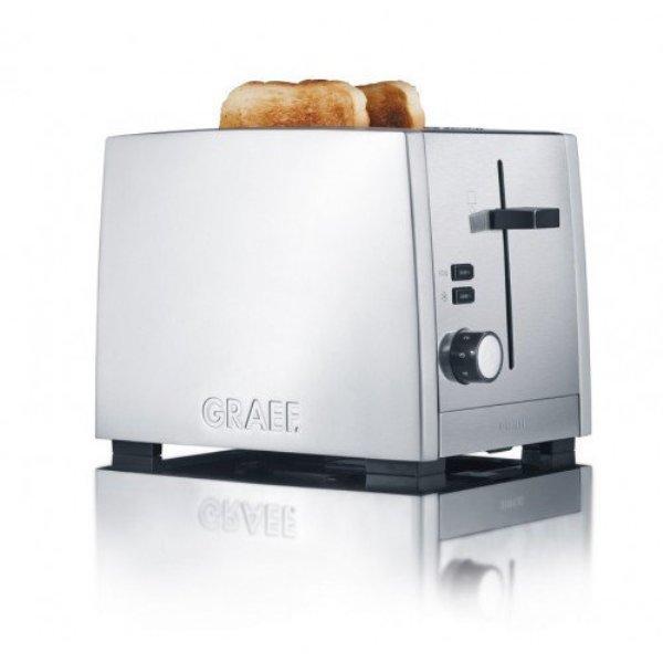 Тостер на 2 тоста Graef TO 80 Серебристый