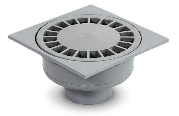 Трап для внутренней канализации Инсталпласт 50 15х15 прямой (серый)
