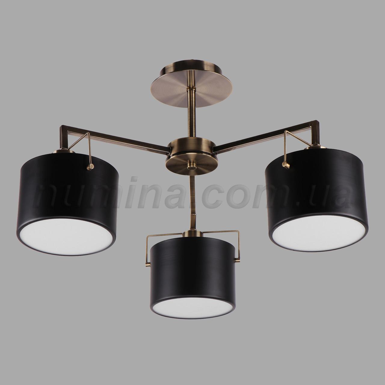 Люстра потолочная на три лампы 29-3106/3 AB+BK
